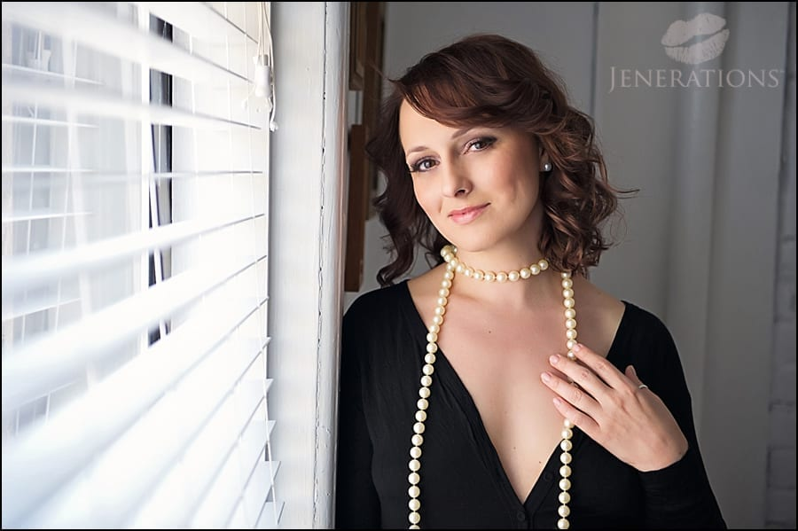 NYC Boudoir Photographer | Playing with Pearls